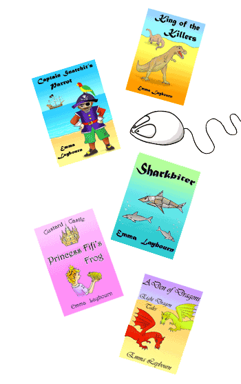 thumbnail covers of some of Emma Laybourn's free children's ebooks