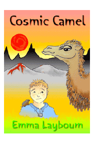 the cover of the free children's science fiction ebook COSMIC CAMEL