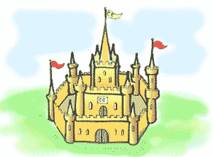 Custard Castle, from the free children's fairy tales by Emma Laybourn