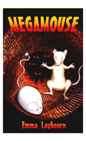 the cover of the children's ebook Megamouse by Emma Laybourn, about a computer 