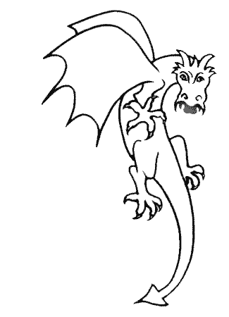 The dragon Sanguinarius, from the free kids' online story Two and a half Knights and a Dragon